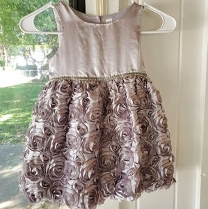 Cherokee Silver Holiday Dress Girls 4T